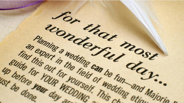 A short wedding checklist