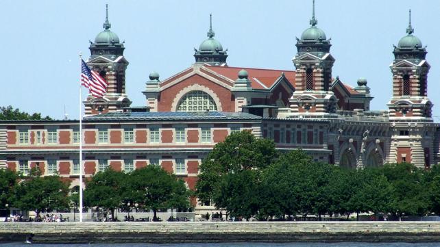 Immigration building at Ellis Island, NY.