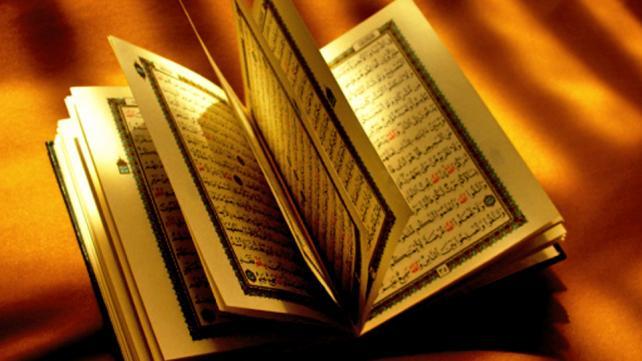 """<a href=""http://commons.wikimedia.org/wiki/File:Opened_Qur%27an.jpg#mediaviewer/File:Opened_Qur%27an.jpg"">Opened Qur'an</a>"" by Flickr.com user ""<a class=""external text"" href=""http://www.flickr.com/people/el7bara/"" rel=""nofollow"">el7bara</a>"" - <a class=""external free"" href=""http://www.flickr.com/photos/el7bara/45540389/"" rel=""nofollow"">http://www.flickr.com/photos/el7bara/45540389/</a>"