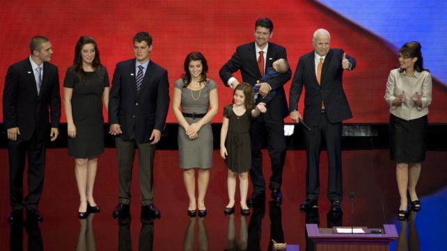 Sarah Palin and John McCain with the Palin family at Minnesota Republican Convention