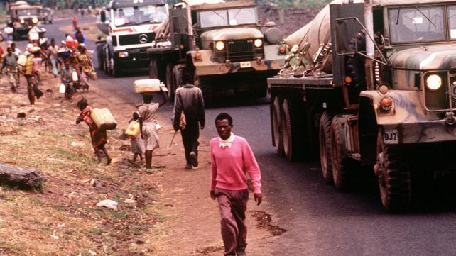 Rwandan refugees located at Camp Kimbumba, Zaire.