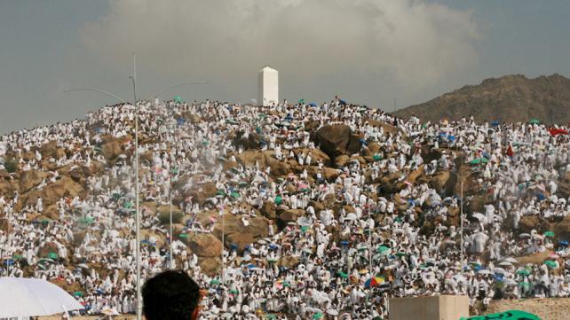 Mount Arafat, where the last sermon was given.