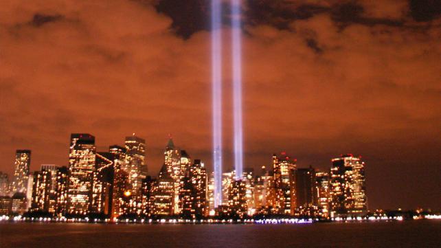 """Tribute in Light from Jersey City, NJ, September 11, 2006"""