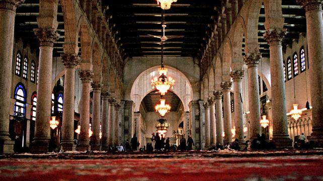 The Umayyad Mosque - interior, Damascus