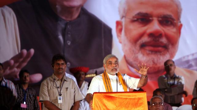 Modi campaigns for the BJP