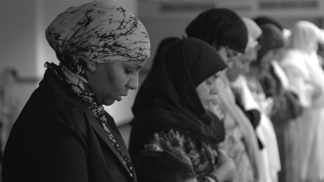 Women praying jummah at the Islamic Society of Akron & Kent