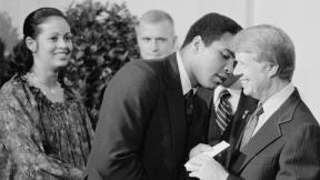 Muhammad Ali meets President Jimmy Carter
