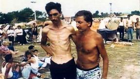 "Trnopolje Camp near Prijedor, Bosnia-Herzegovina, 1992.  ""Photograph provided courtesy of the ICTY.""."